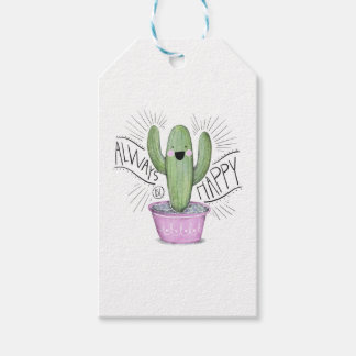 Always Happy Cactus Plant Gift Tags