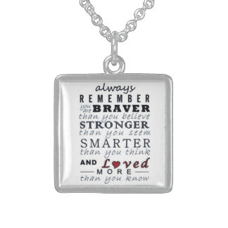 Always Remember Sterling Silver Necklace