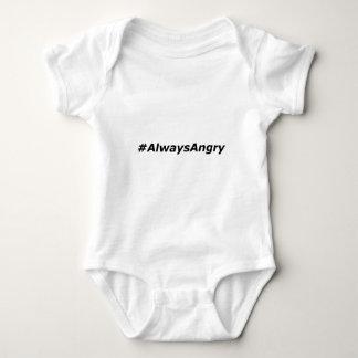 #AlwaysAngry-logo-black Baby Bodysuit