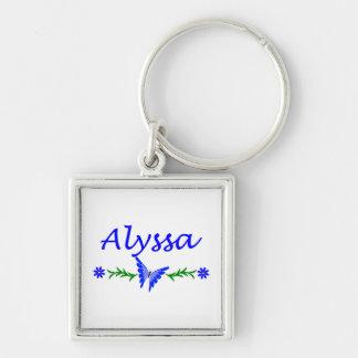 Alyssa (Blue Butterfly) Key Ring