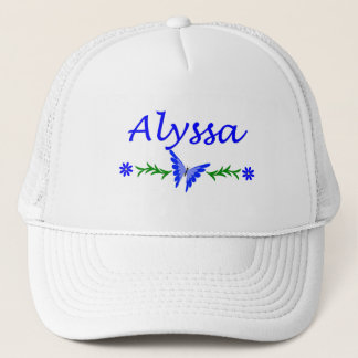 Alyssa (Blue Butterfly) Trucker Hat