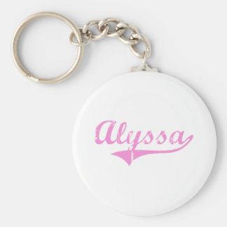 Alyssa Classic Style Name Key Ring