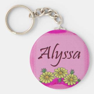 Alyssa Daisy Keychain