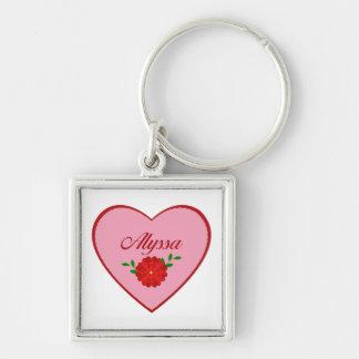 Alyssa (heart) key ring