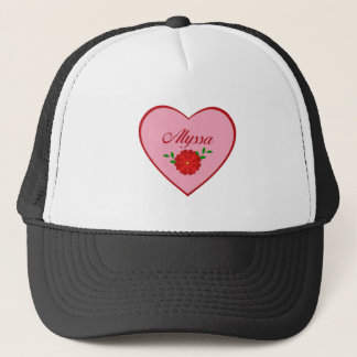 Alyssa (heart) trucker hat
