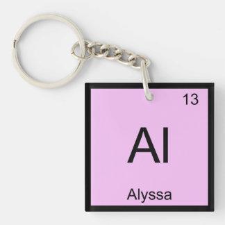 Alyssa Name Chemistry Element Periodic Table Key Ring