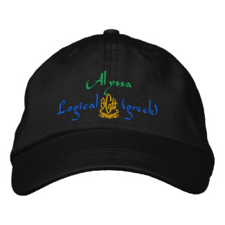 Alyssa Name With Greek Meaning Embroidered Hat
