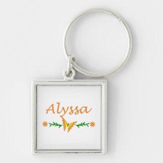 Alyssa (Orange Butterfly) Key Ring