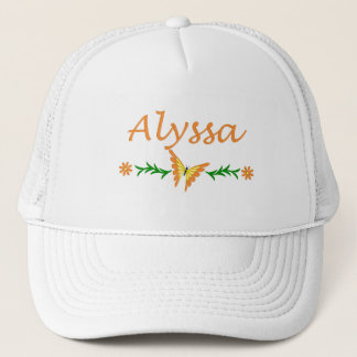 Alyssa (Orange Butterfly) Trucker Hat