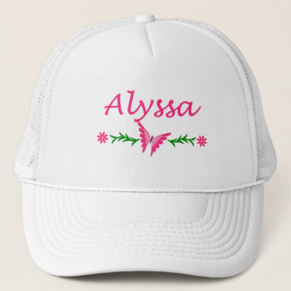 Alyssa (Pink Butterfly) Trucker Hat