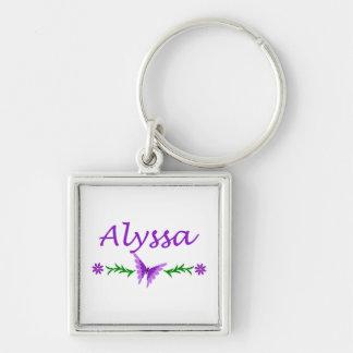 Alyssa (Purple Butterfly) Key Ring