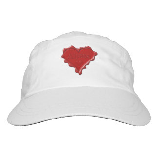 Alyssa. Red heart wax seal with name Alyssa Hat