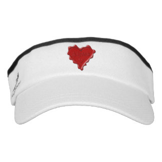 Alyssa. Red heart wax seal with name Alyssa Visor
