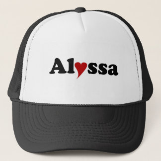 Alyssa with Heart Trucker Hat