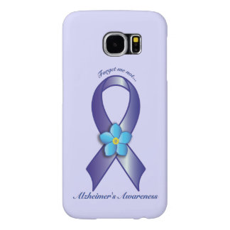 Alzheimer's Awareness Ribbon with Forget Me Not