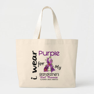 Alzheimers I Wear Purple For My Grandfather Canvas Bag