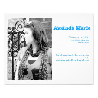 Amanda Marie business cards 11.5 Cm X 14 Cm Flyer
