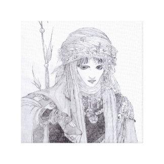 Amano in Grey - Graphite Art Piece Canvas Print