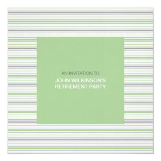 Amara Stripe Pistachio Retirement Party Invite