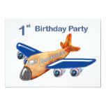 Amazing Aeroplane 1st Birthday Invitations