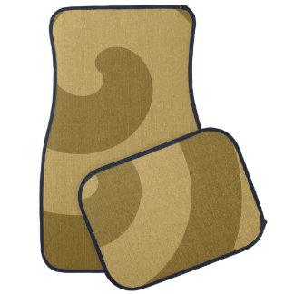 Amazing Brown and Tan Swirls Car Mat