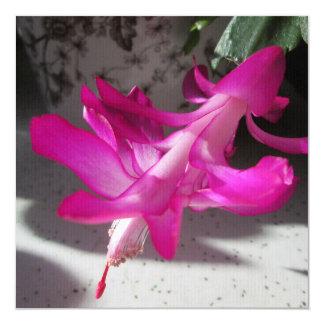 Amazing Christmas Cactus 13 Cm X 13 Cm Square Invitation Card