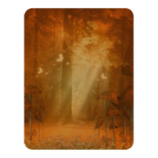 Amazing forest with butterflies 11 cm x 14 cm invitation card