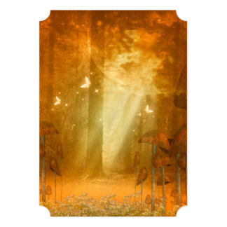 Amazing forest with butterflies 13 cm x 18 cm invitation card