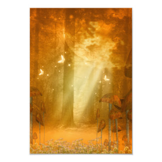 Amazing forest with butterflies 9 cm x 13 cm invitation card