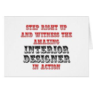 Amazing Interior Designer In Action Card