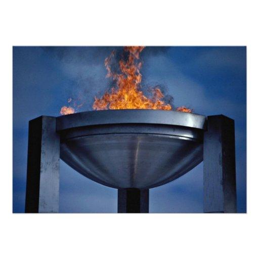 Amazing olympic flame custom invitation