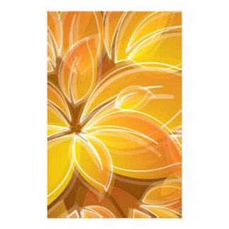 Amazing orange floral elements custom stationery