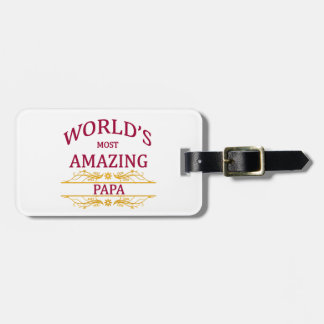 Amazing Papa Bag Tag