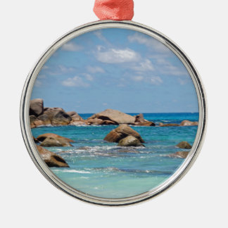 amazing seychelles Silver-Colored round decoration