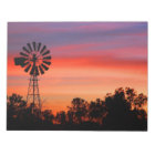 Amazingly Colourful Dawn Sunrise Windmill Notepad