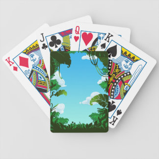 Amazon Forest Painting Bicycle Playing Cards