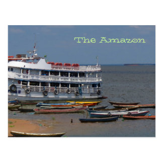 Amazon River Boats Postcard