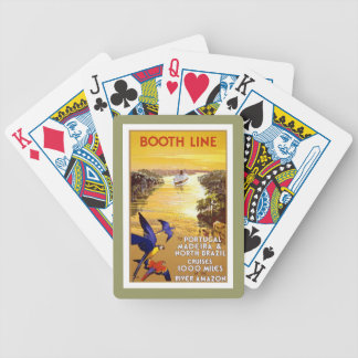 Amazon River Brazil Vintage Travel Playing Cards
