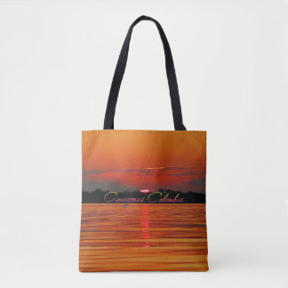 Amazon River Sunset Tote Bag