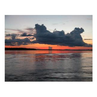 Amazon Sunset, Peru Postcard