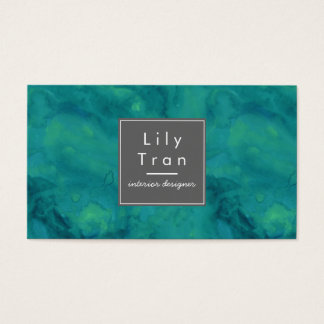 Amazonite Teal Watercolor Business Card