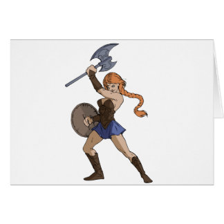 Amazons and Warriors Card