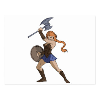 Amazons and Warriors Postcard