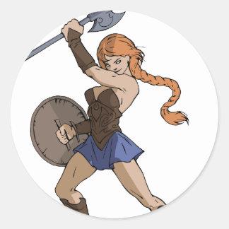 Amazons and Warriors Round Sticker
