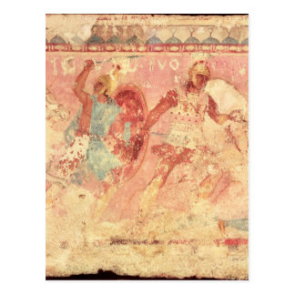 Amazons fighting a Greek warrior Postcard