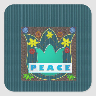 Ambassdor of PEACE Society Nations Artistic GIFTS Square Sticker
