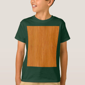 Amber Bamboo Wood Grain Look T-Shirt