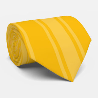 Amber Color Stripe Funky Pattern Tie
