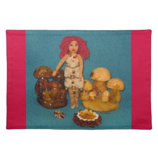 Amber Faerie Doll Placemat