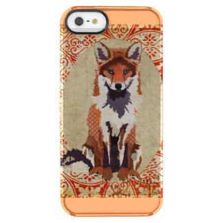 Amber Fox Ornate iPhone Case